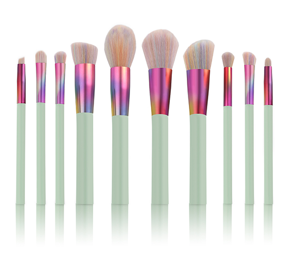 MB006 10 pcs rainbow gradient makeup brush set 2