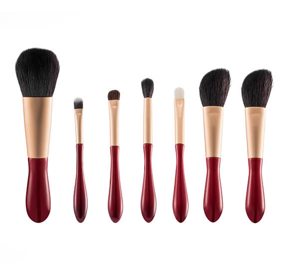 MB007 7 pcs water drop handle makeup brush set 5