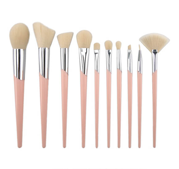 MB008 10 pcs makeup brush set 4