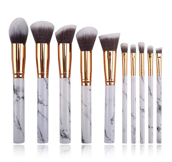 MB010 10 pcs marble makeup brush set2