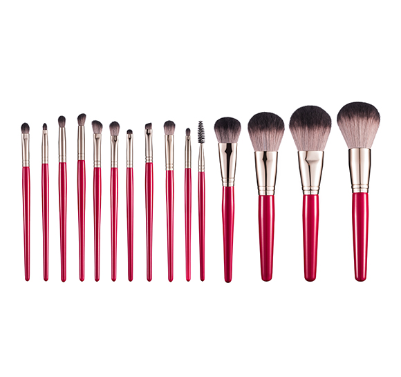 MB016 15 pcs makeup brush set5