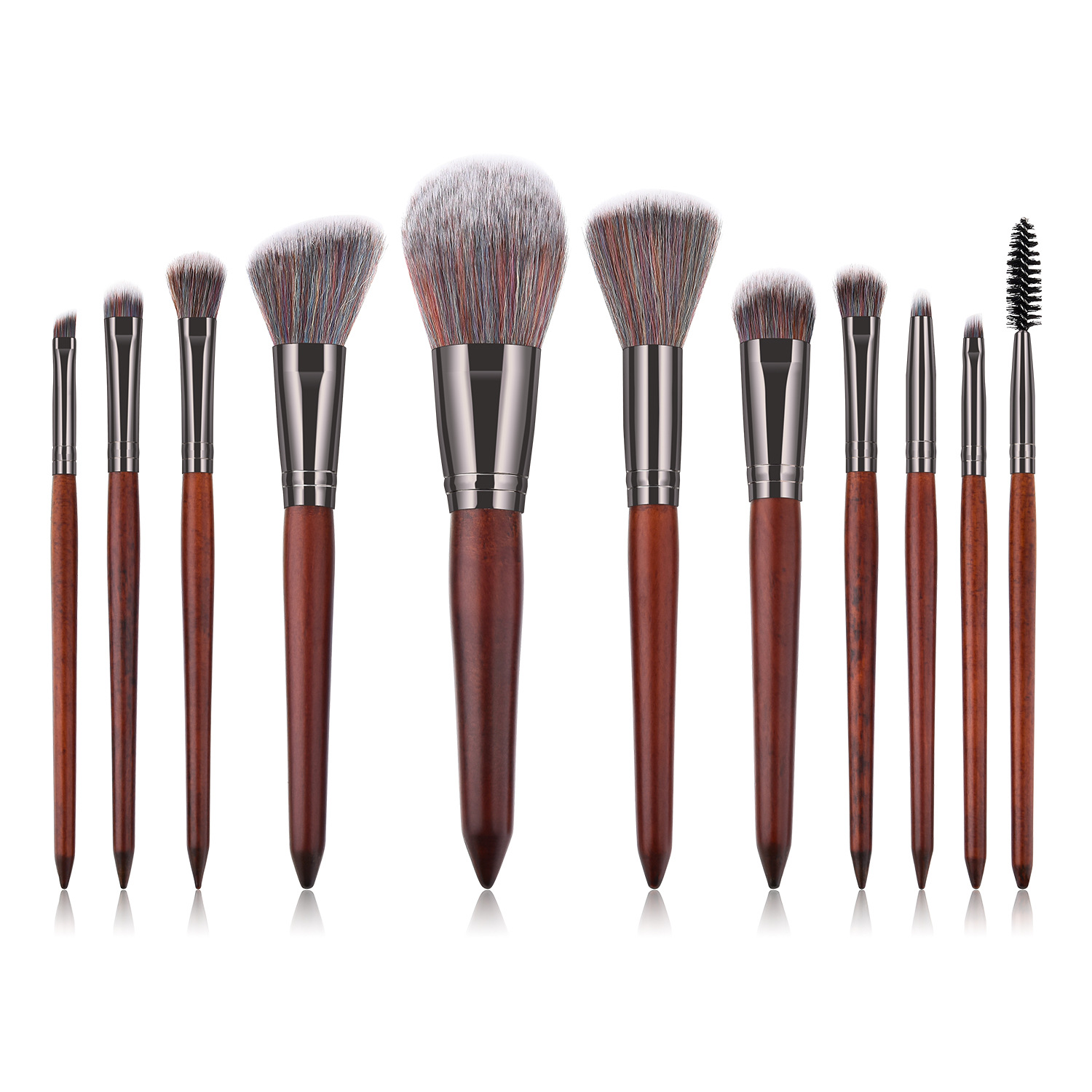 11 pc makeup brush set MB075