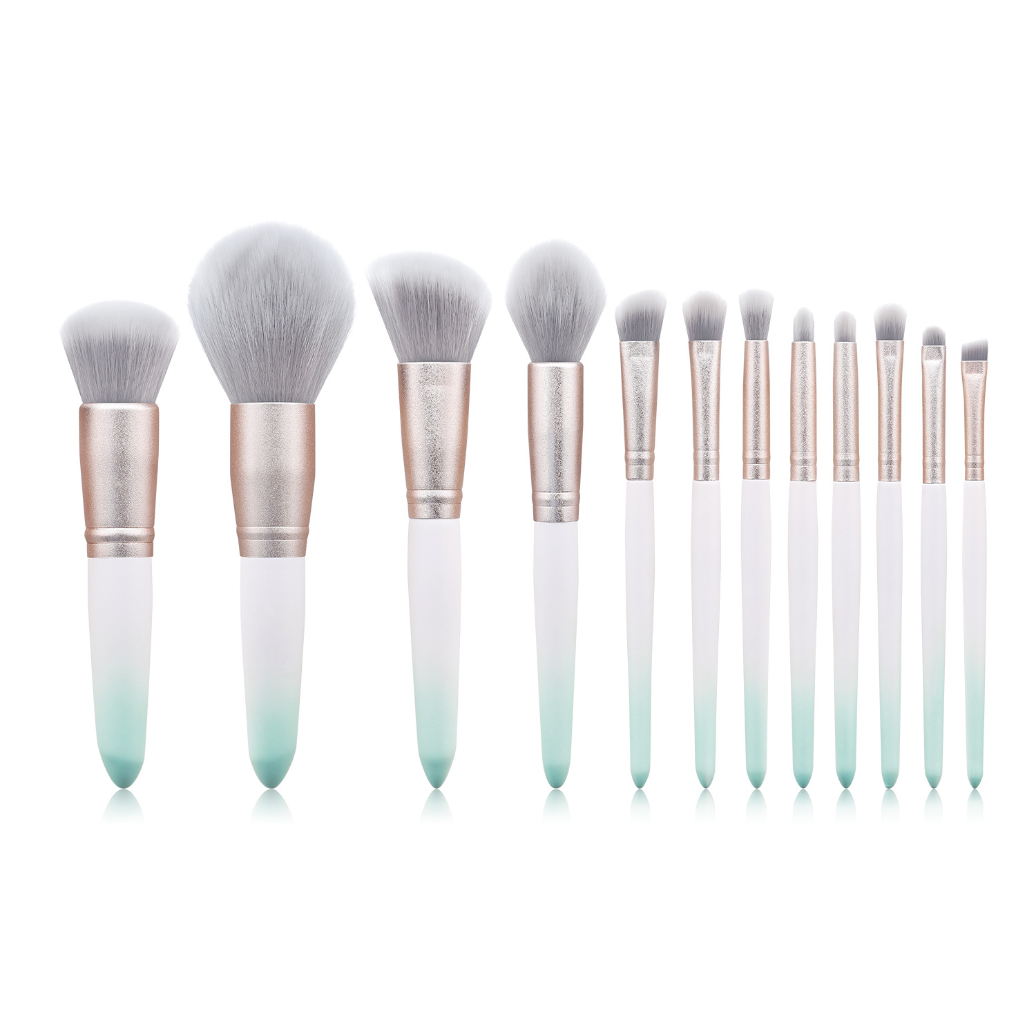 12 pc makeup brush set MB076