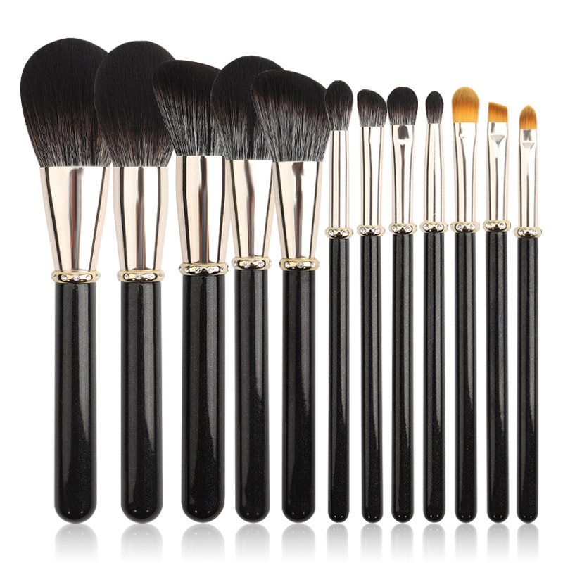 12 pc makeup brush set MB077