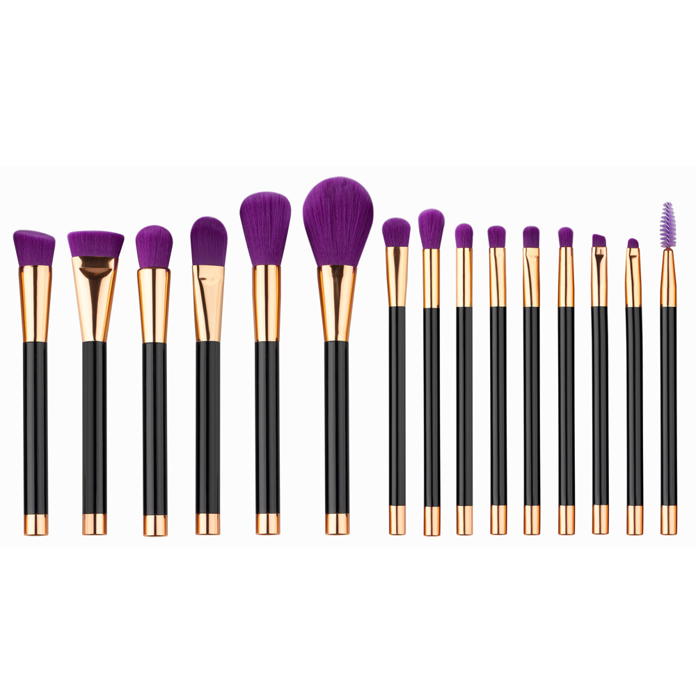 15 pc makeup brush set MB087
