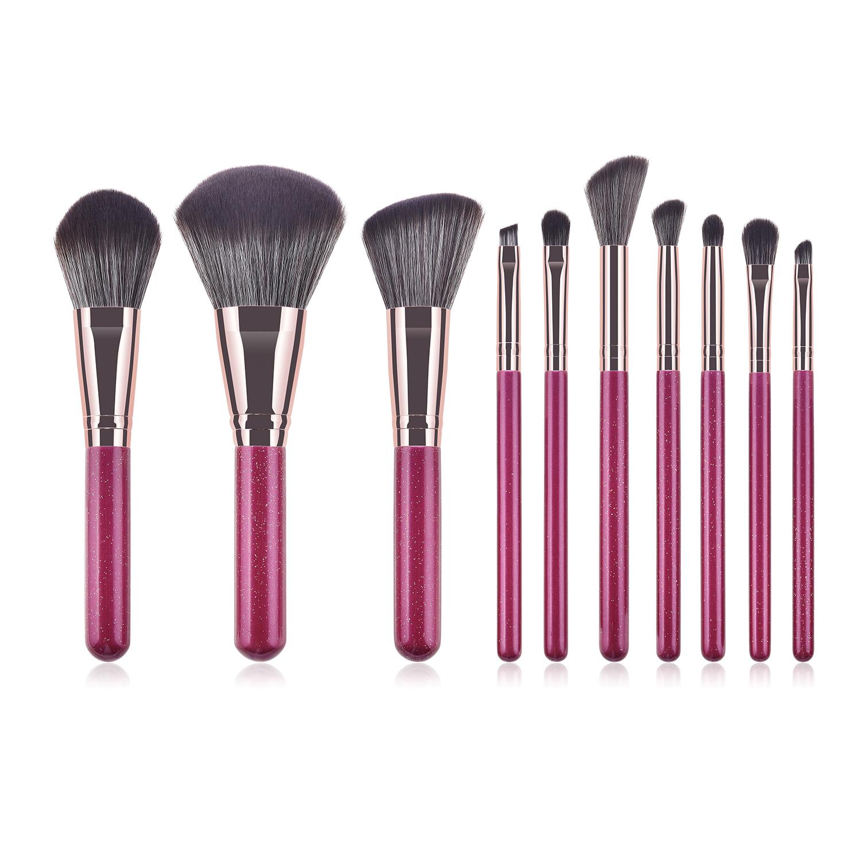 10 pcs makeup brush set