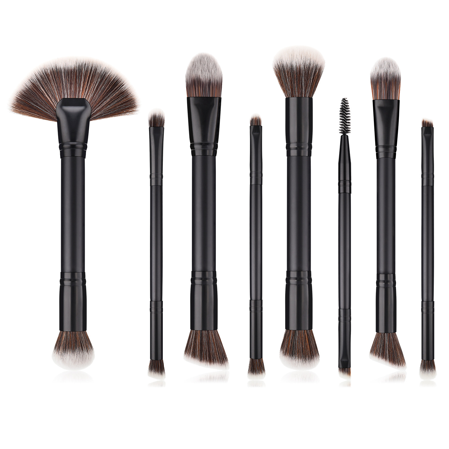 8 pcs Duo end makeup brush